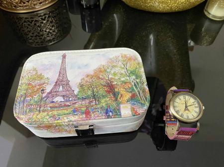 La Tour Eiffel Gift Set: Cutie Bijuterii + Ceas de mana3