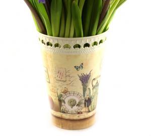 Buchet de 19 zambile cu vaza1