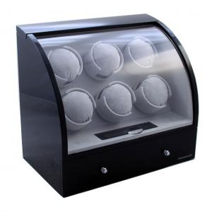 Watch Winder Basel 6 BLACK by Designhütte – Made in Germany- personalizabil4