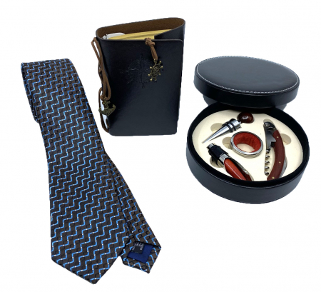 Gentleman Gift Set: Agenda Navy Style, Cravata, Set accesorii Vin [0]