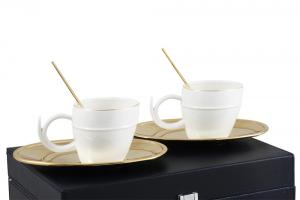 Gold Coffee Set for Two Chinelli - made in Italy4