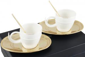 Gold Coffee Set for Two Chinelli - made in Italy2