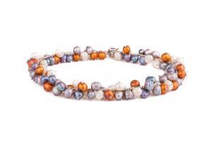 Colier si Bratara Perle Naturale Borealy Colorful1