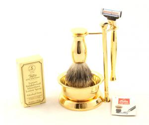 Gold Plated Luxury Shaving Set by Erbe Solingen, made in Germany6