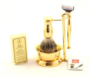 Gold Plated Luxury Shaving Set by Erbe Solingen, made in Germany1