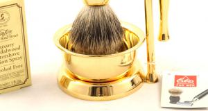 Gold Plated Luxury Shaving Set by Erbe Solingen, made in Germany4