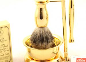 Gold Plated Luxury Shaving Set by Erbe Solingen, made in Germany2