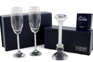 Cadou Crystal Toast Luxury by Valenti, made in Italy + Decoratiune de Craciun din Ceramica1