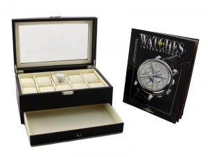 Cadou Black Watches Box & WATCHES International0