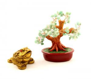 Cadou Lucky Frog and Quartz Tree0