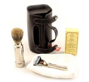 Set Barbierit Luxury Rasier in Lendertasche - Made in Germany3