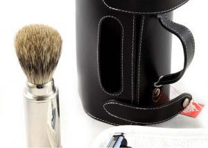 Set Barbierit Luxury Rasier in Lendertasche - Made in Germany2