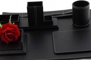 Business Desk Multi Black Leather2