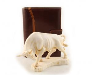 Taur & Brown Leather Notebook - piele naturala0