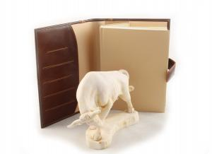 Taur & Brown Leather Notebook - piele naturala3