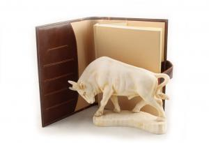 Taur & Brown Leather Notebook - piele naturala1