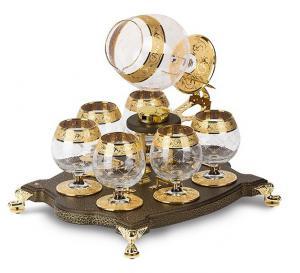 Incalzitor de Lux pentru Cognac Bonaparte cu 7 pahare by Credan - Made in Spain0