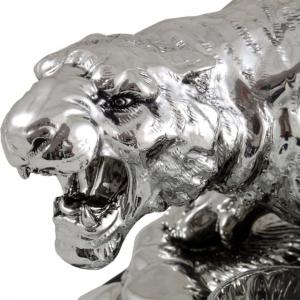 Indian Tiger Vodka Set Silver Plated by Chinelli - made in Italy [1]