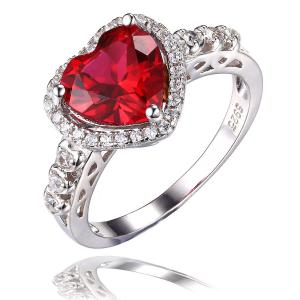 Inel Borealy Argint 925 Rubin 3 carate Red Love Marimea 60