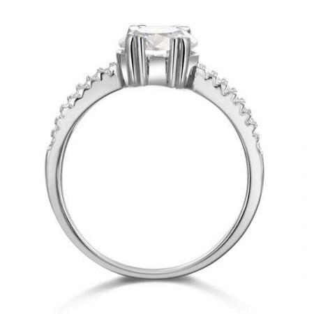 Inel Borealy Argint 925 ONE Zirconiu Simulated Diamond Solitaire Marimea 62