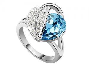 Inel Frunza Blue0