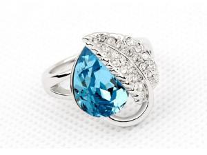 Inel Frunza Blue2
