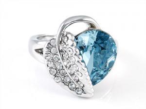 Inel Frunza Blue1