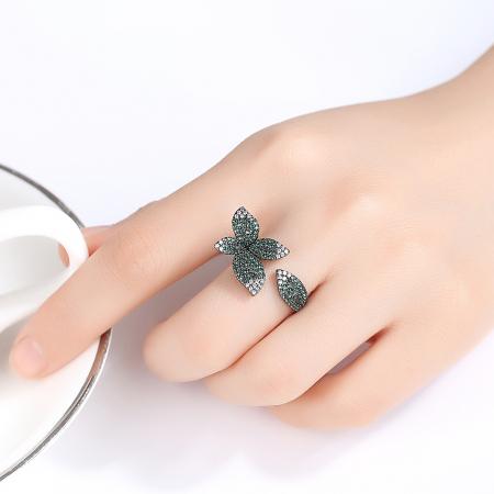 Inel Leaf Black Luxury0