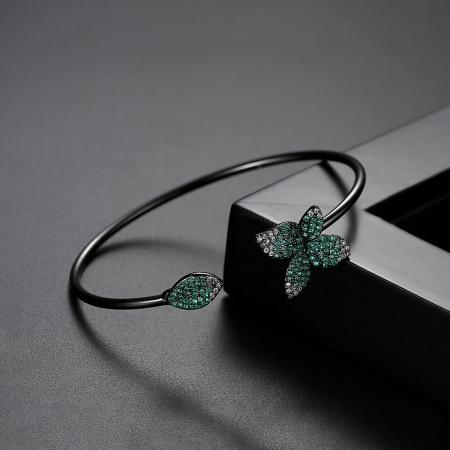 Bratara Leaf Black Luxury2