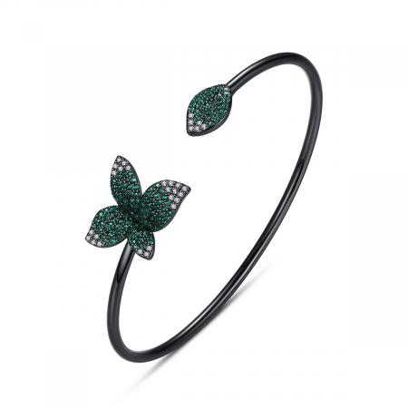 Bratara Leaf Black Luxury0