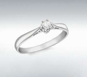 Inel Logodna Diamant Natural 0.10 carate din Aur 18 carate1