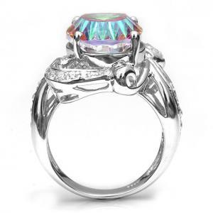 Inel Amazing Fire Rainbow Topaz Mistic 8 carate Argint 925 marimea 75