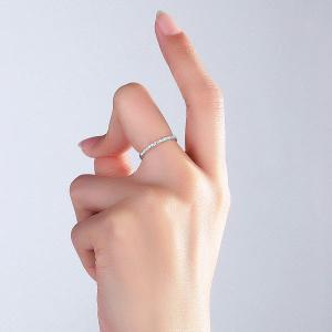 Inel Borealy Aur Alb 14 K Eternity Natural Diamonds Half Band4