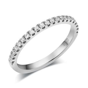 Inel Borealy Aur Alb 14 K Eternity Natural Diamonds Half Band