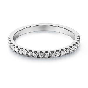Inel Borealy Aur Alb 14 K Eternity Natural Diamonds Half Band1