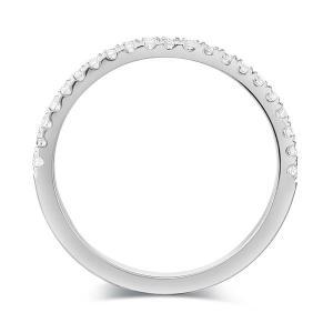 Inel Borealy Aur Alb 14 K Eternity Natural Diamonds Half Band3