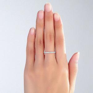 Inel Borealy Aur Alb 14 K Eternity Natural Diamonds Half Band5