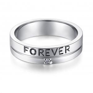 """Inel Borealy Aur Alb 14 K Natural Diamond Men's Style """"Forever""""1"""