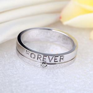"""Inel Borealy Aur Alb 14 K Natural Diamond Men's Style """"Forever""""4"""