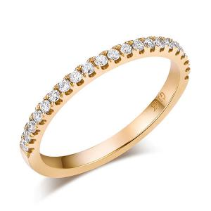 Inel Borealy Aur Galben 14 K Eternity Natural Diamonds Half Band