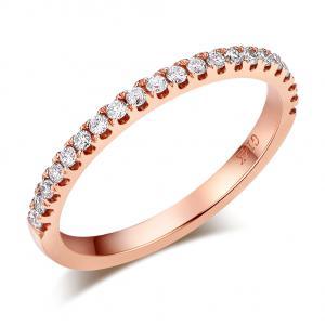 Inel Borealy Aur Roz 18 K Eternity Natural Diamonds Half Band