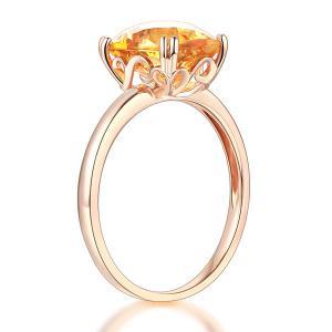 Inel Borealy Aur Roz 18 K Yellow Citrin Natural Wedding Engagement3