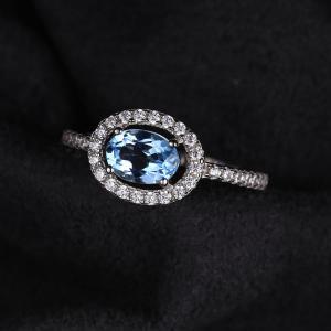 Inel Blue Ciel Natural Blue Topaz marimea 61