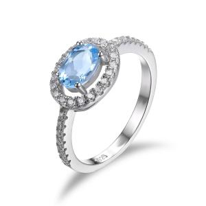 Inel Blue Ciel Natural Blue Topaz marimea 6