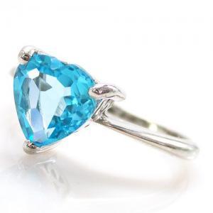 Inel Blue Dream Topaz Natural 2,05 carate3