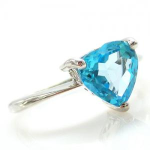 Inel Blue Dream Topaz Natural 2,05 carate4