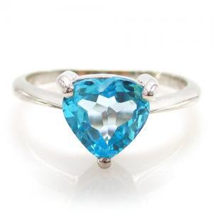 Inel Blue Dream Topaz Natural 2,05 carate6