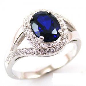 Inel Blue Safir by Borealy Argint 9250