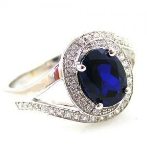 Inel Blue Safir by Borealy Argint 9252