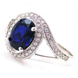 Inel Blue Safir by Borealy Argint 9251